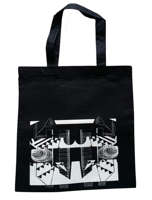 Abstract Rose Bag (Black)