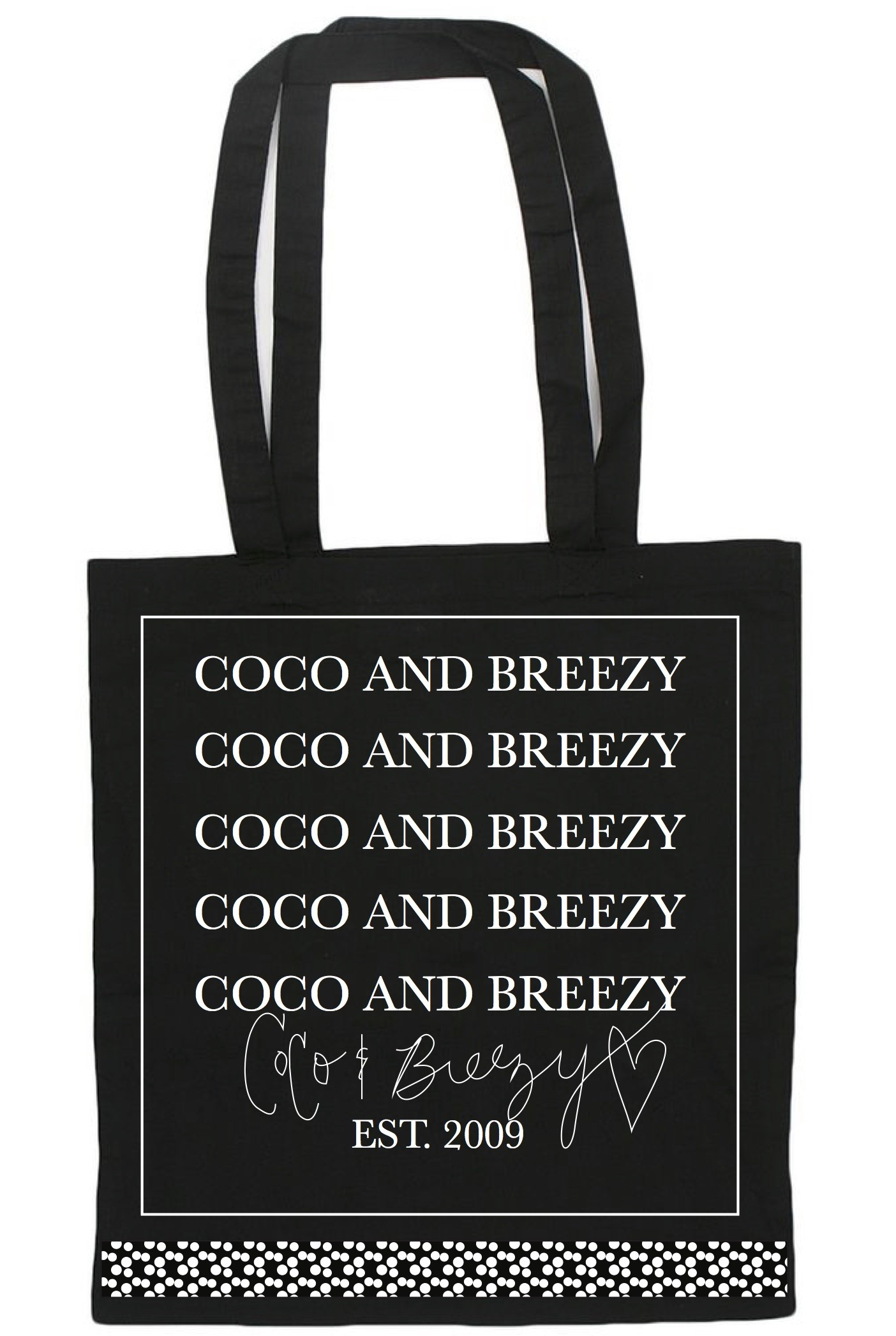 Coco and Breezy Signature Bag (Black)