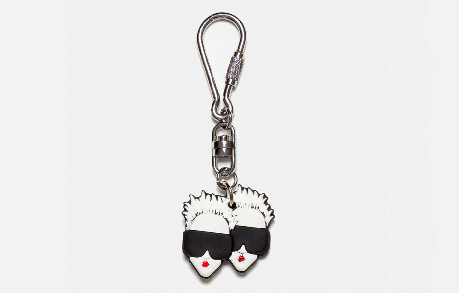 Twin Love Key Chain (Silver)