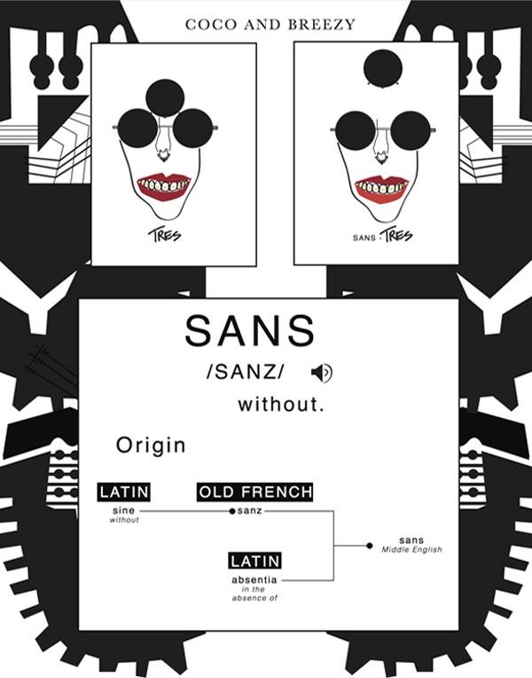 Tres Sans Art Print