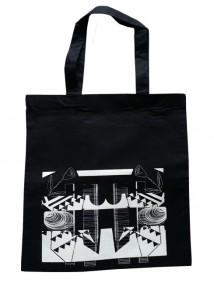 Abstract Rose Bag (Black)