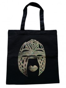 Line Tribal Mask Bag (Black)